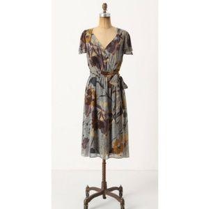 Anthropologie Maeve Bronwen Silk Dress